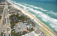 Vista aérea da praia do Futuro, Fortaleza, Ceará