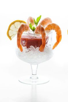 Perfectly plump shrimp cocktail—and sauce from scratch