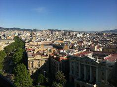 Vue de la ville depuis El Mirador de Colon - #Barcelona