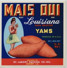 MAIS OUI Vintage Sunset Louisiana Yam Crate Label, ***AN ORIGINAL LABEL*** | eBay