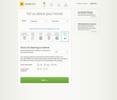 Homejoy - Home cleaners - booking process