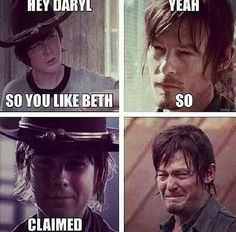 Carl vs Daryl