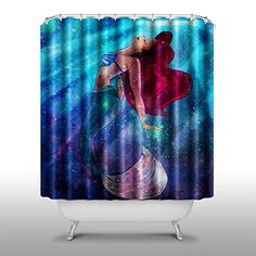 Pink Peri The Little Mermaid Shower Curtain Handmade Home Living Bathroom