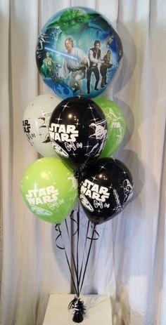 Ballons Bouquet Star Wars , personnages et Typographie