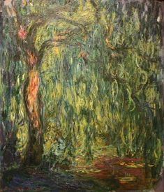 Weeping Willow, 1918 by Claude Monet - Famous Art - Handmade Oil Painting on Canvas — Canvas Paintings Monet Paintings, Impressionist Paintings, Landscape Paintings, Abstract Paintings, Painting Art, Claude Monet, Gravure Photo, Artist Monet, Weeping Willow