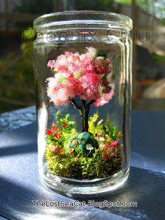 Cherry blossom Tree terrarium Tree of Life Glass by phoenixchiu