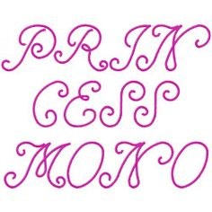 Styles Embroidery Font: Princess monogram from Embroidery Patterns