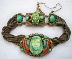 ART DECO MAX NEIGER EGYPTIAN REVIVAL BRACELET