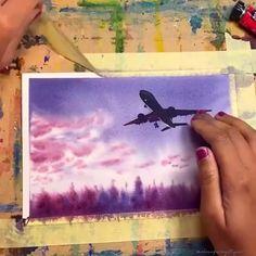 Watercolor Art Lessons, Watercolor Painting Techniques, Artist Painting, Watercolor Paintings, Cute Doodle Art, Art Painting Gallery, Diy Canvas Art, Watercolor Illustration, Art Drawings