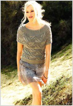 Пуловер спицами выглядит потрясающе, благодаря оригинальному узору поперек и придающей сдержанный блеск вискозе. Вязание этого пуловера доставит вам огромное удовольствие....Размер ажурного пуловера: 34-36..Для вязания ажурного пуловера нам понад...