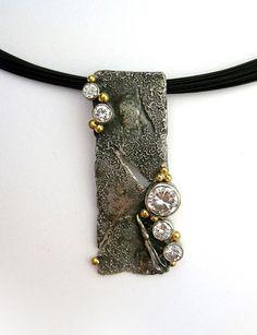 Sterling Silver, 18k Gold & Diamonds: