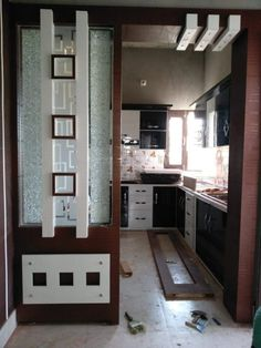 Room Partition Wall, Living Room Partition Design, Living Room Divider, Pooja Room Door Design, Room Partition Designs, Kitchen Room Design, Modern Kitchen Design, Interior Design Kitchen, Design Room
