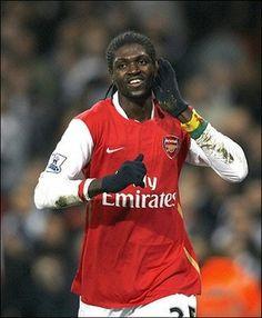 Emmanuel Adebayor, Arsenal v Blackburn 13th September 2008.