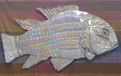 ana Badulake: Crafts - Fish body made of CDs