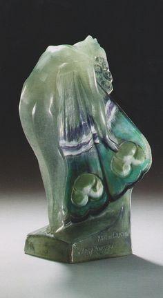 Marcel-Andre Bouraine, A PATE-DE-CRISTAL FIGURE ENTITLED 'PAPILLON' MARCEL BOURAINE (1886-1948) FOR GABRIEL ARGY-ROUSSEAU (1885-1953), CIRCA 1928