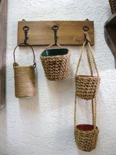 Twine - crochet baskets: