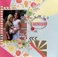 friendship - Scrapbook.com - Made with the September Scrapbook.com Kit club September kit, A Wonderful World.