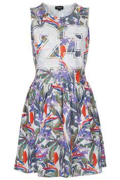 Tropical Number Skater Dress - Dresses  - Clothing