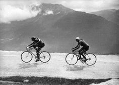 Coppi and Bartali in the greatest ever cycling photograph.