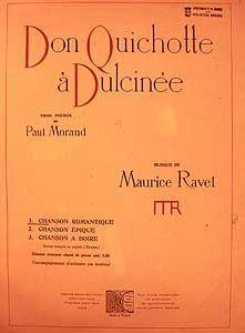 Maurice RAVEL. Don Quichotte á Dulcinèe. Biblioteca Musical Municipal (Madrid).