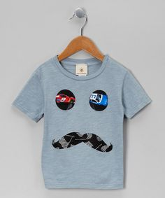 Take a look at this Gray Racecar Mustache Tee - Infant, Toddler & Boys by Million Polkadots on #zulily today!