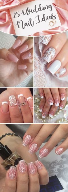 25 Wedding Nail Ideas That Are All You Need To Charm Your Tips For The Special Day #wedding #nail #design #love