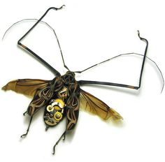 Steampunk longhorn beetle