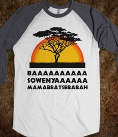 Haha I want to make a Lion King shirt like this!