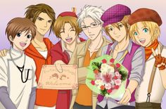 The bachelors of Harvest Moon: The Tale of Two Towns. I'm kind of debating between Kana, Cam and Ash on this one.