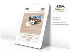Logo-Design, CMS-Website, Responsive Webdesign, Suchmaschinenoptimierung www.huberwirt-gstaudach.de