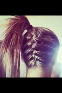 frenchbraid into a ponytail. <3