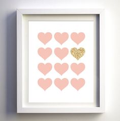 INSTANT DOWNLOAD: Pink and Glitter Hearts **This item is a DIGITAL download item, NO PHYSICAL item will be shipped to your address. HOW TO GET