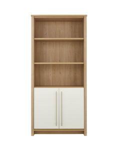 Suri Bookcase with 2 Door Cupboard, http://www.very.co.uk/consort-suri-bookcase-with-2-door-cupboard/1600136270.prd