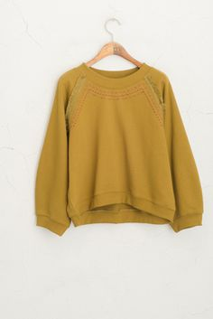 Stitch Detail Sweatshirt, Khaki