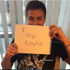 pictures of peyton meyer holding a sign that said i ship reyton - Google Search