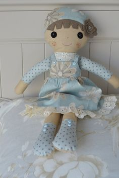 PDF sewing pattern Doll, soft toy, Dressed doll , 'SWEET ARIA' Dolly