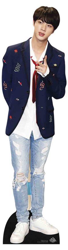 RM from Bangtan Boys Black Leather Lifesize and FREE Mini Cardboard Cutout bts