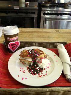 A Valentine's Day treat - Dark Chocolate Mocha Stuffed French Toast. #DDLove