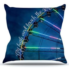 East Urban Home Fly High And Touch The Sky by Beth Engel Outdoor Throw Pillow