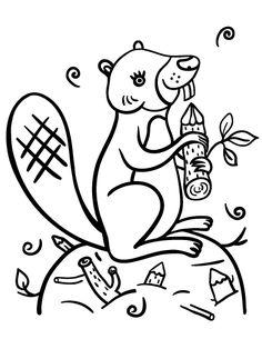 Printable Beaver Coloring Page Free PDF Download At Coloringcafe