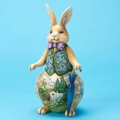Welcome Spring-Spring Scene Rabbit Figurine