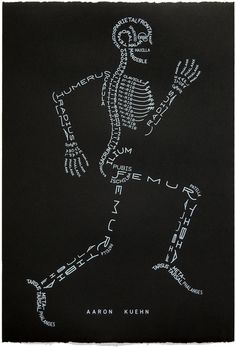 Skeleton Bones Word Picture- Aaron Kuehn  I absolutely love this!!!  Getting one framed!