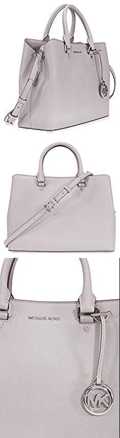 Grey Michael Kors Purse. Michael Kors Savannah Medium Leather Satchel - Pearl Grey.  #grey #michael #kors #purse #greymichael #michaelkors #korspurse