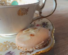 Delicious amaretti cookies with orange. (Italian almond cookies, home made.)