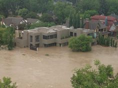 @Bunny Babstock Alicious 7h A multi million dollar property in Calgary under water!! #abflood