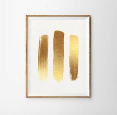 Printable Gold Painting | Gold Print | Minimalist Gold Painting | Simple Gold Print | Gold Art | Gold Printable | Gold Paint Strokes  PLEASE NOTE:  This listing is an INSTANT DIGITAL DOWNLOAD of this artwork. No physical artwork will be sent. Once purchased, you will instantly
