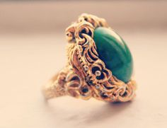 Vintage Poison Ring 'Versailles'. $50.00, via Etsy.