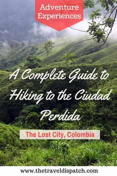 The Lost City Colombia: A Complete Guide for Hiking to the Ciudad Perdida - includes what to expect, info on trail conditions, how to book your tour, what to pack and more tips to get through this 4 day trek.