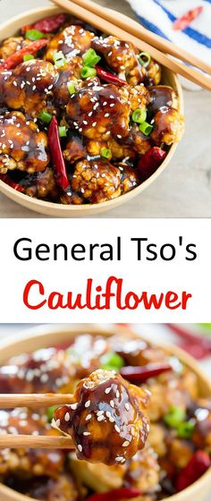 General Tsos Cauliflower | Kirbies Cravings | A baked, low-carb and healthier version of the original!