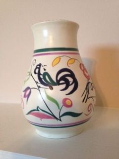 Poole-Pottery-Hand-Painted-Vase